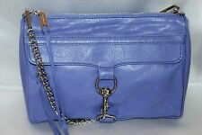 REBECCA MINKOFF Soft Purple Leather Full Size MAC Xbody Shoulder Bag Clutch