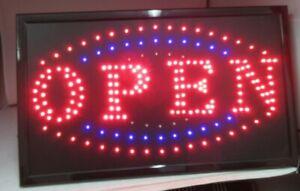 Large Bright Flashing LED OPEN Shop Sign Neon Hang Display Window Light large