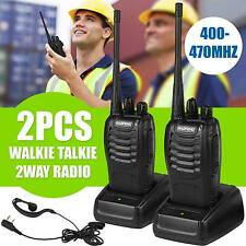 2Pcs Talkie Walkie Radio 2-Way 16CH 5 W BF-888S UHF 400-470 MHz Long Range