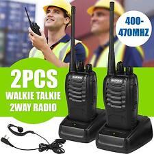2 PC Walkie Walkie-talkie 2-way Radio 16CH 5 W Bf-888S UHF 400-470MHz LONG RANGE