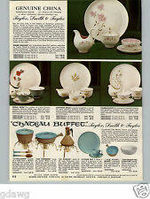 1960 PAPER AD 4 PG Taylor Smith & Taylor Dinnerware China Sphinx Royal Chateau