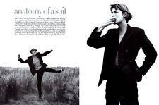 1993 David Sims Linda Evangelista 8-page MAGAZINE EDITORIAL - Anatomy of a suit