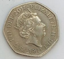 Low mintage shield back 2017 50p Coin Commemorative Fifty Pence Piece