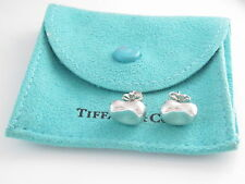 Tiffany & Co Peretti Silver Bean Earrings $272 Pouch!