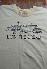 "Vintage Trailer Park ""Living the Dream"" T Shirt (Large)"