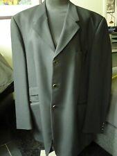 WILVORST Herren Sakko Jacket Blazer Schurwolle Schwarz D 58