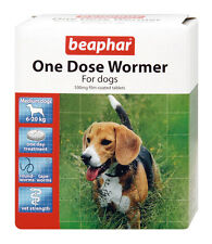 Beaphar One Dose Wormer for Medium Dogs 2 Tablets Worm Treatment for Dogs
