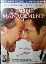 ANGER MANAGEMENT DVD JACK NICHOLSON ADAM SANDLER FREE POST AUSTRALIA