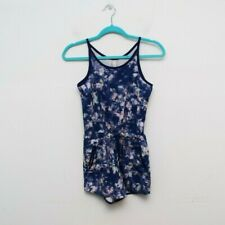 Athleta Girl On the Go Romper Size Large 12 Blue Tie Dye Casual