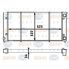 HELLA Motorkühler Wasserkühler Kühler 8MK 376 713-304
