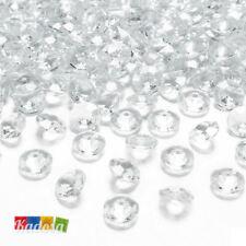 100 Diamanti Decorativi 12 mm TRASPARENTI Diamantini Centrotavola Party Elegante