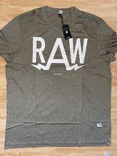 G Star New Mens Regular Fit Green XXL T Shirt RRP £25