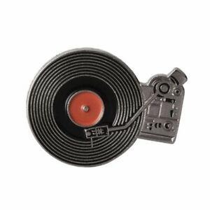 Enamel Pin Brooch DJ Vinyl Record Player Badge Jeans Punk Gothic Jewelry Gift*