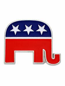 Republican Elephant Patriotic Political Lapel Pin Magnetic back