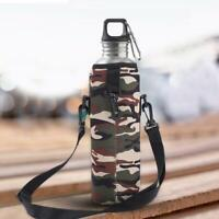 Water Bottle Thermal Holder Bag Scald-Proof Case Cover Sleeve with Strap Outdoor