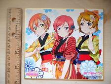NEW Love Live Idol Anime Movie Maki Hanayo Rin 1st Year Autograph Board Shikishi