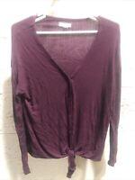 14th & Union Women's Medium Long Sleeve Button Down Purple Shirt