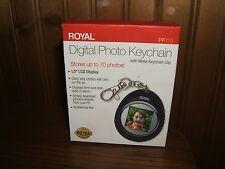 Royal Digital Photo Keychain w/Metal Keychain Clip (NEW)