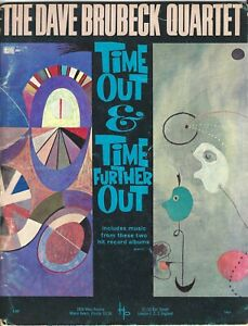 """1962 Dave Brubeck """"Time Out & Time Further Out"""" piano jazz sheet music book"""