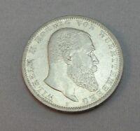 Silbermünze 5 Mark  DR Münze Silber  Wilhelm II von Wuerttemberg 1903 F
