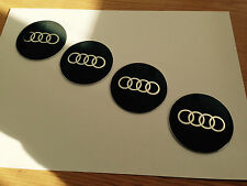 Logos Jantes Alu. Audi A3-A4-A5-A6-A8-Q5-Q7...65mm (4 Pièces) Gris Antracite