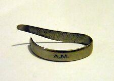 1940s German Thumbpick A.M. Size 4 For Banjo Guitar Arbeitsgemeinschaft Metall