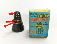 Vintage TV Related Dr Who Rare Black Rolykin Dalek 1960's Plastic Toy Boxed