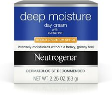 Neutrogena Deep Moisture Day Cream Broad Spectrum SPF 20 2.25  Exp. 10/2021