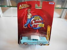 Johnny Lightning My Classic Car 1958 Chevy Impala SS in Light Blue on Blister