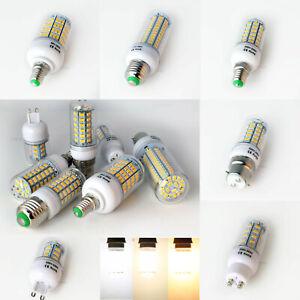 1/10X E14 E27 ES LED Corn Light Bulb BC B22 G9 GU10 5730 SMD 7W - 25W White Lamp