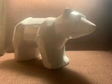 White Porcelain origami geometric polar bear