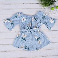 US Cute Newborn Infant Baby Girl Floral Romper Bodysuit Jumpsuit Outfit Clothes