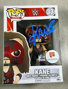 WWE KANE  Signed Funko Pop Walgreens Exclusive Vinyl Figure W/PROOF