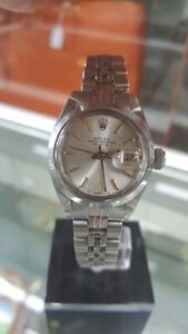 Rolex Oyster Perpetual Date 6916 Silver Dial Stainless Steel Automatic Watch.