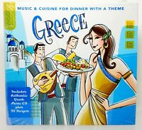 Greece: Music & Cuisine For Dinner With A Theme 2009 CD & Recipe Book BRAND NEW