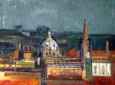 """""""A View of Oxford"""" by ALEX ZWARENSTEIN! Hand Signed Original Oil Painting! Rare"""