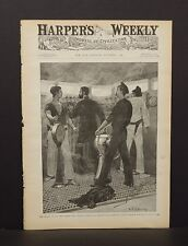 Harper's Weekly Cover Pg The Brains of the Ship- The Conning Tower 1891 A9#08