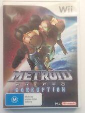 Metroid Prime 3 Corruption Wii Game (Preloved)