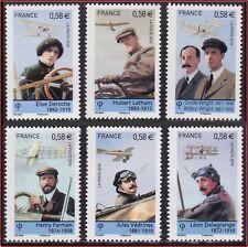 2010 FRANCE N°4504/4509** Les Pionniers de l'Aviation, Aviation Pioneers Set MNH