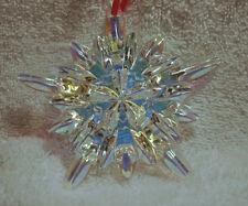 Baccarat Iridescent Courchevel French Crystal Christmas Snowflake Ornament NIB