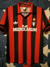 SIZE S AC MILAN ITALY 1991-1992 HOME FOOTBALL SHIRT JERSEY MAGLIA ADIDAS