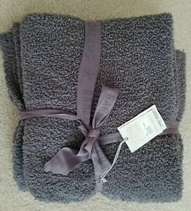 NEW BAREFOOT DREAMS THROW WITH TAGS GRAPHITE GRAY 54x72 COZYCHIC
