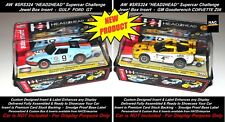 2 Custom Display Cases AW Head2Head Supercars Set Only Cars CORVETTE & FORD GT