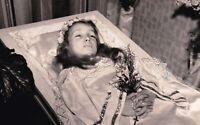 Antique Post Mortem Funeral Casket Photo 237b Odd Strange & Bizarre
