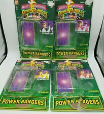Bandai 1994 Mighty Morphin Power Rangers Action Figure Card Back Lot