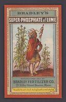 Werbekarte - Victorian Trade Card BRADLEY'S Super Phosphate of Lime, Boston Mass