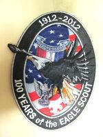 "EAGLE SCOUT CENTENNIAL 1912-2012 OFFICIAL 3-D JACKET PATCH 4/""x 6/"" OVAL"