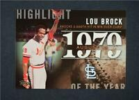 2015 Topps Highlight of the Year #H78 Lou Brock UPD - NM-MT