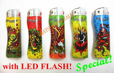 20 pcs Refillable Cigarette Electronic Lighters Led Flash Twinkle Lighter