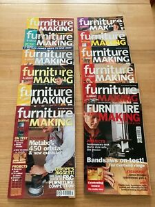 Furniture and Cabinetmaking macazines 2002 Jan-Dec Full Year